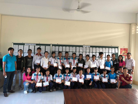 Nov 4, 2018 - Scholarship Award in Kien Giang, Long An, Tien Giang