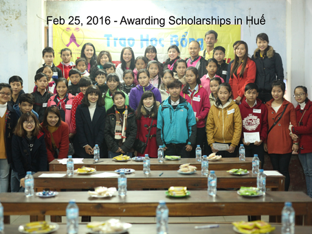Feb 26, 2016 - Scholarship Award in Huế
