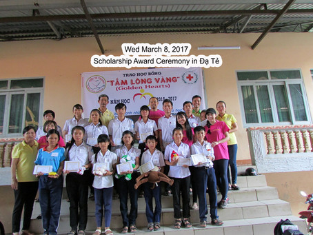 March 8, 2017 - Scholarships Award in Dạ Te Lam Đong