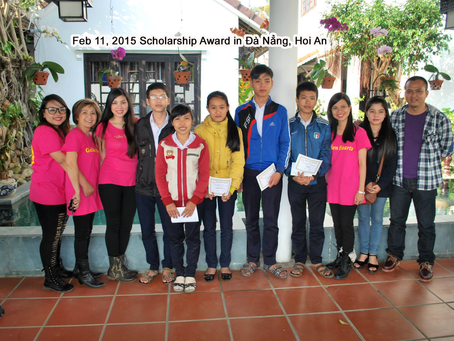 Feb 11, 2015   Scholarship Award in Hoi An            Sep 9, 2015   Scholarship Award in Duy Xuyen