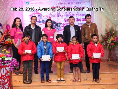 Feb  28, 2016 - Scholarship Award in Quảng Trị.