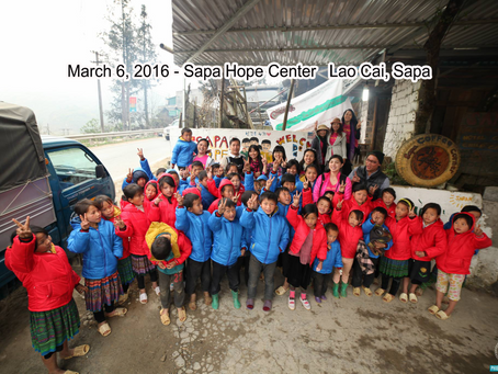 March 6, 2016 -  Sa Pa Hope Center, Notre Dame Cathedral Sa Pa, Lào Cai