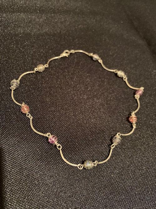 Wire-Wrapped Funky Bead Bracelet