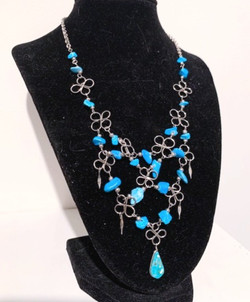 Wire-Wrapped Statement Necklace