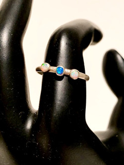 Sterling Silver/Opal Cabochons
