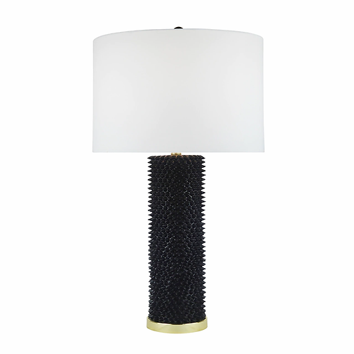 Black & Gold Resin Spiked Lamp