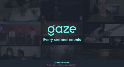 GazeTV, the platform we partnered with, had successfully launched!