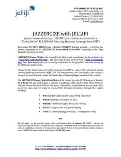 PRESS RELEASE_Jellifi_JAZZERCIZE Dance W