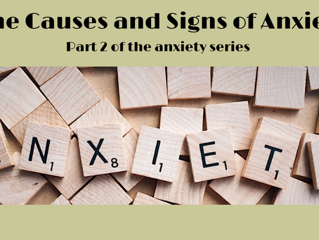 The Causes and Signs of Anxiety, part 2 of the anxiety series