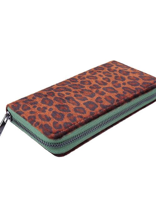 Portemonnee Leopard Groen