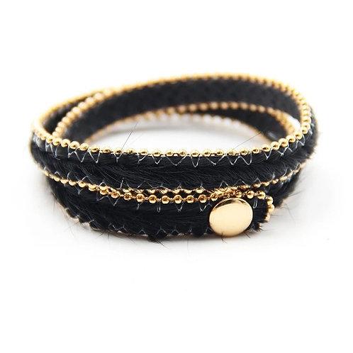 Armband Zwart goudkleurig