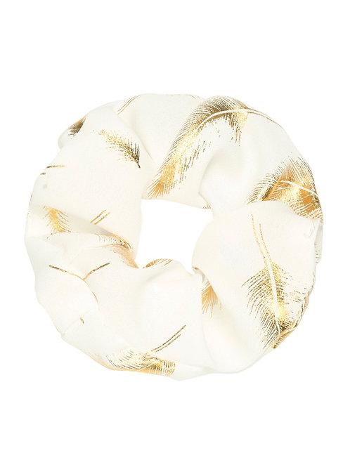 Scrunchie Golden Feather