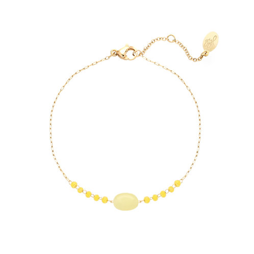 Armband Go With The Stone Yellow