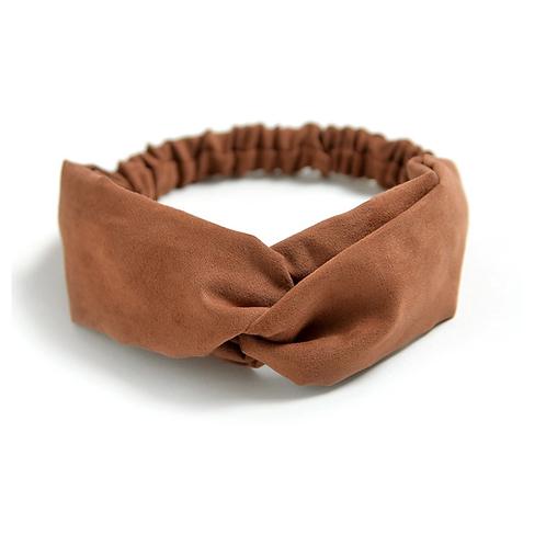 Haarband Camel Suéde Look