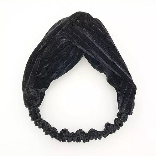 Haarband Zwart Streep Velvet