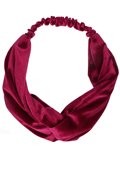 Haarband Bordeaux Velvet