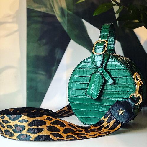 Set Slangenprint Tas Groen