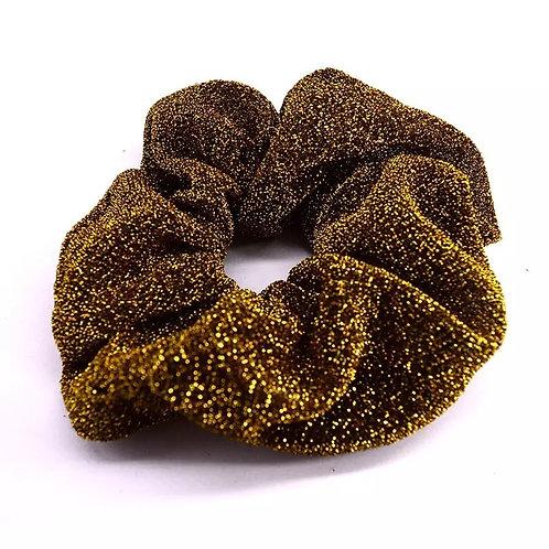 Scrunchie Goud Glitter