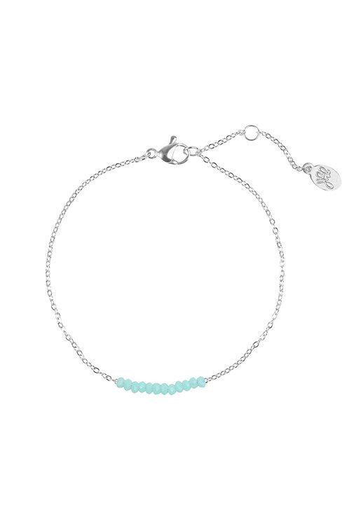 Armband Beads Row Zilver