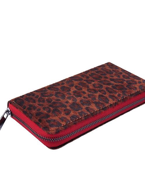 Portemonnee Leopard Rood