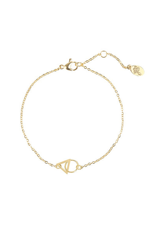 Armband Triangle Goud