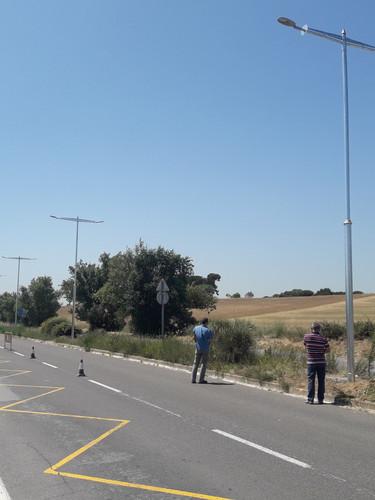 Enllumenat públic a la ronda Pinetons Mollet del Vallès