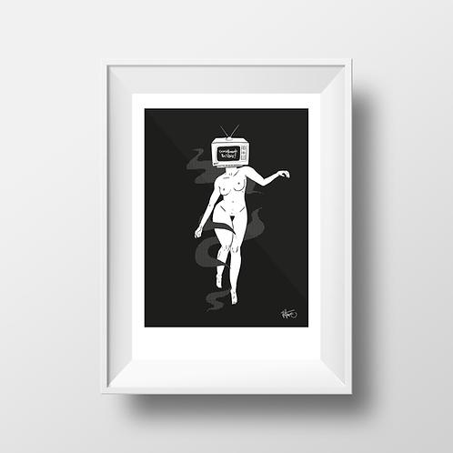 """Unplugged"" A3 Print"