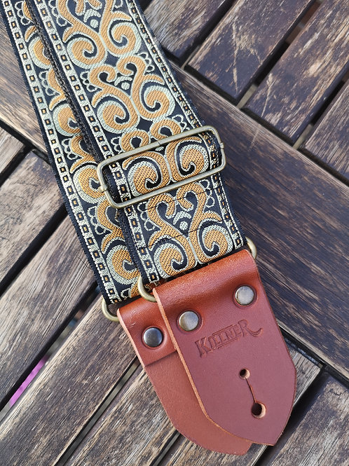 Royal Gold Guitar Strap