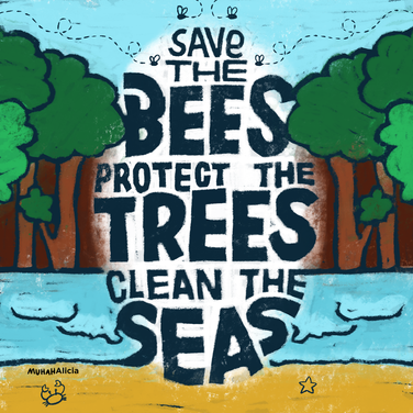 'Save the Bees' - Protest Art
