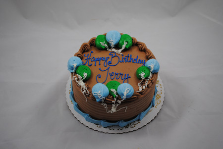 traditional round cake with buttercream