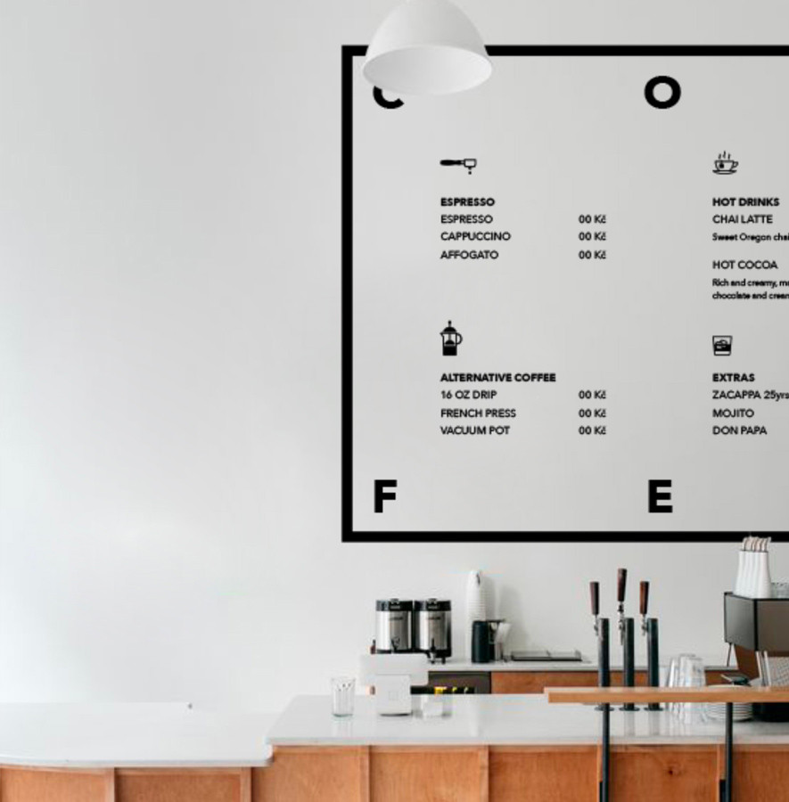 Wonder vizuální koncept - bar