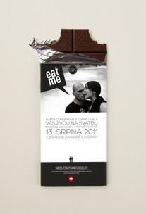 Svatební pozvánka - čokoláda