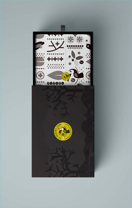 La boheme cafe packaging