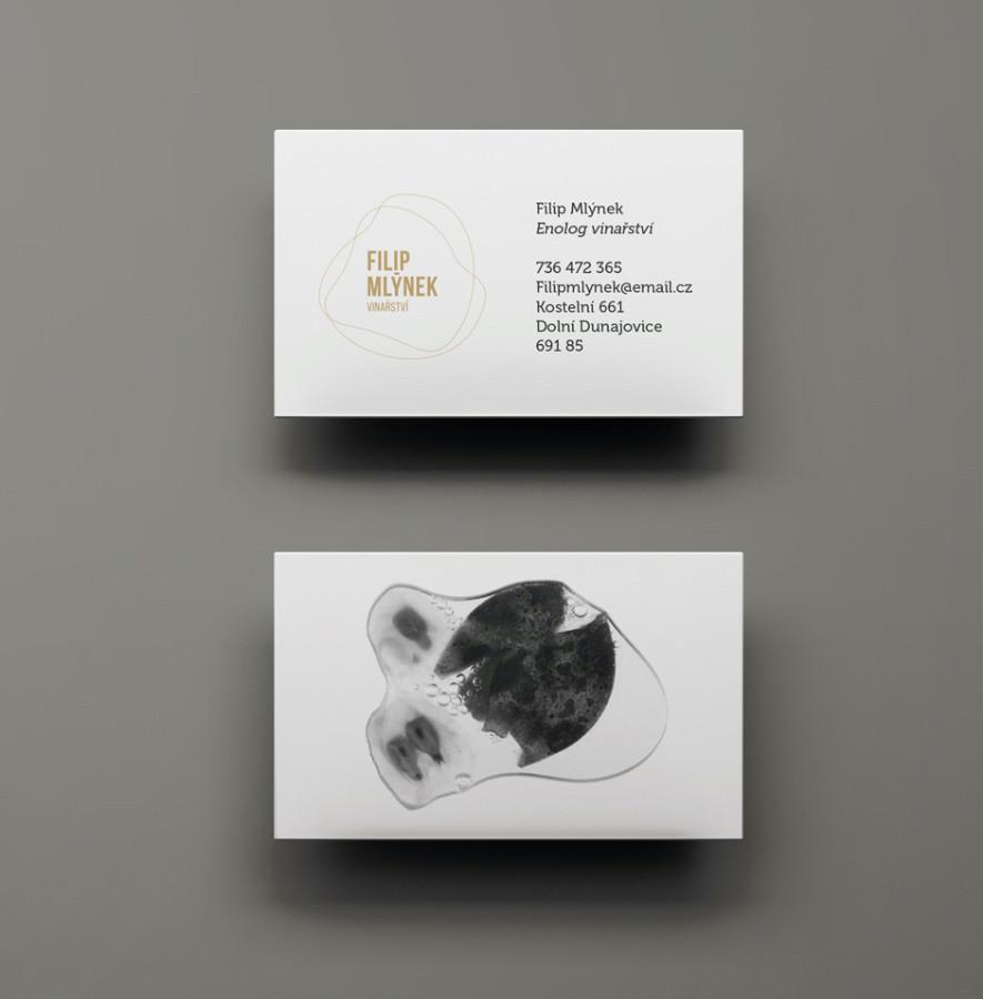 Filip Mlýnek - packaging a vizuální identita - vizitky