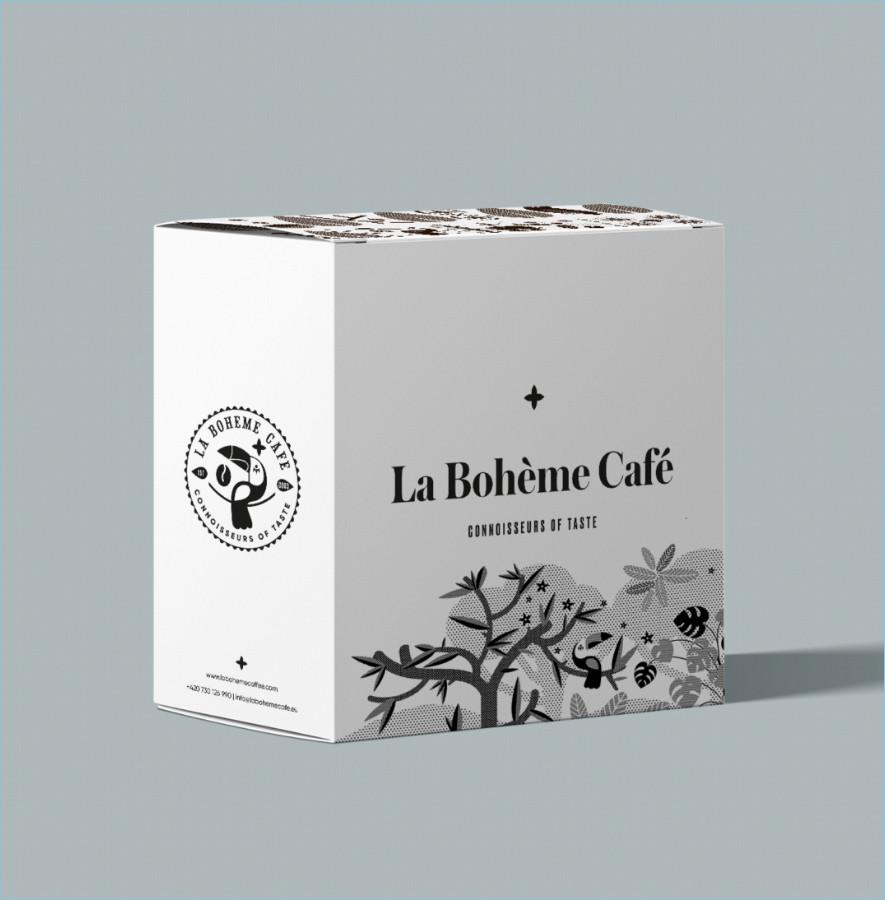 La boheme cafe krabice