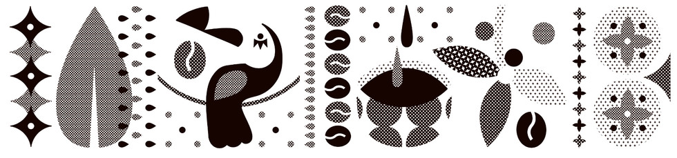 La boheme cafe ilustrace