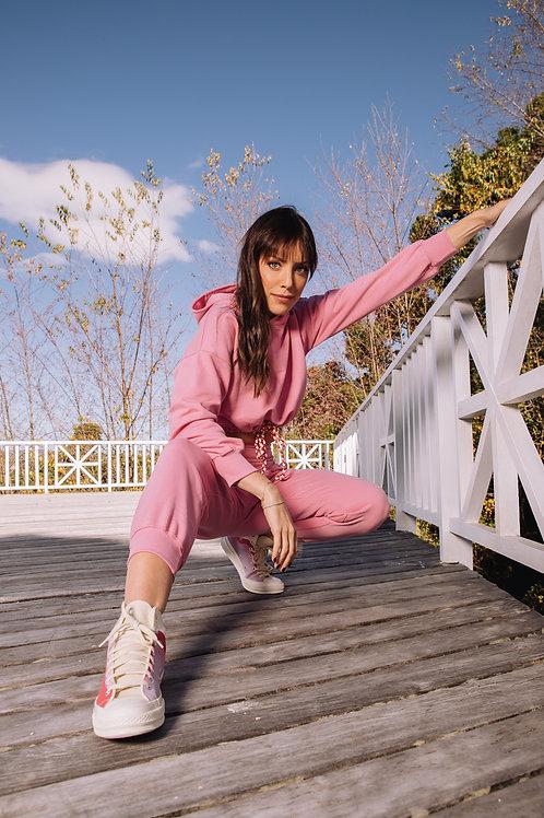 Frente da blusa courchevel rosa les cloches