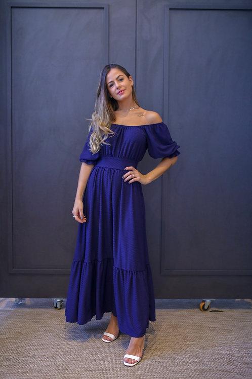 Frente do vestido charlotte azul les cloches