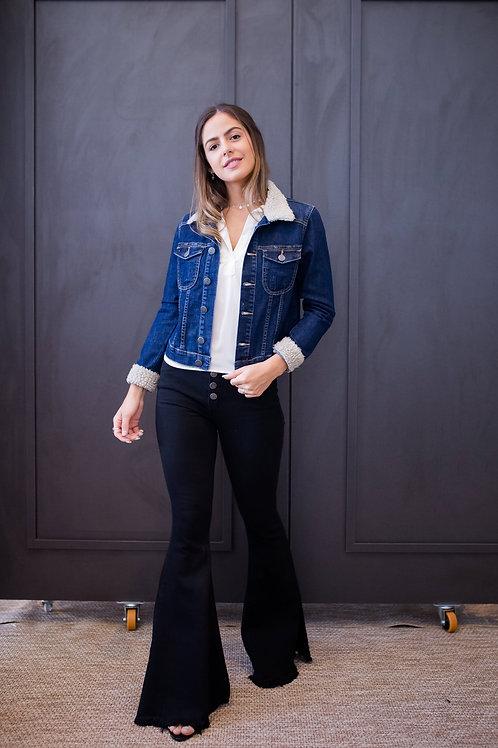 Frente da jaqueta jeans les cloches