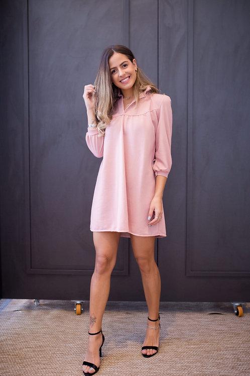 Frente do vestido moletom rosa les cloches