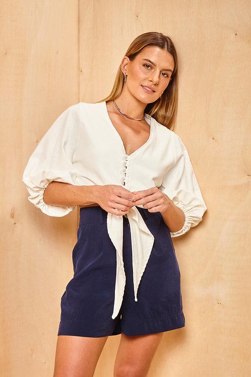 Frente da blusa santorini off white les cloches