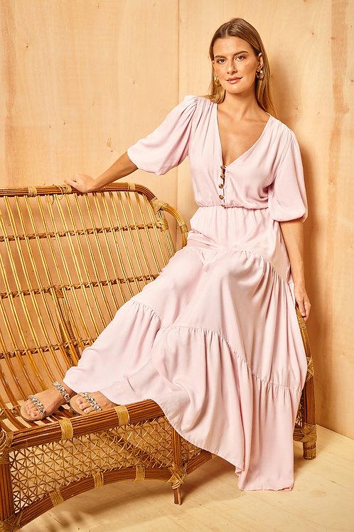 Frente do vestido atenas rosa les cloches