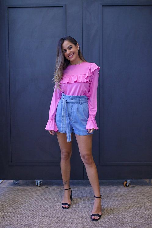Frente da blusa lexie pink les cloches