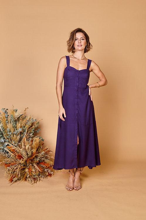Frente do vestido cecilia violeta les cloches
