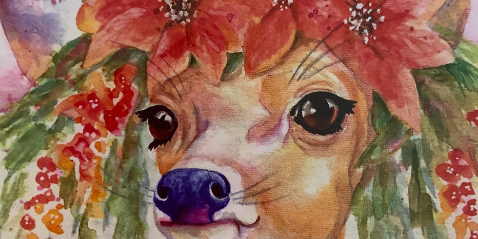 Holiday Deer Watercolor Class-Debbie Wubben