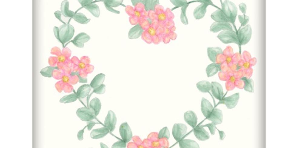 Eucalyptus Heart Wreath-Beginner Watercolor Class