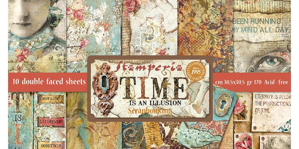Stamperia Greeting Cards-Time is an Illusion pack