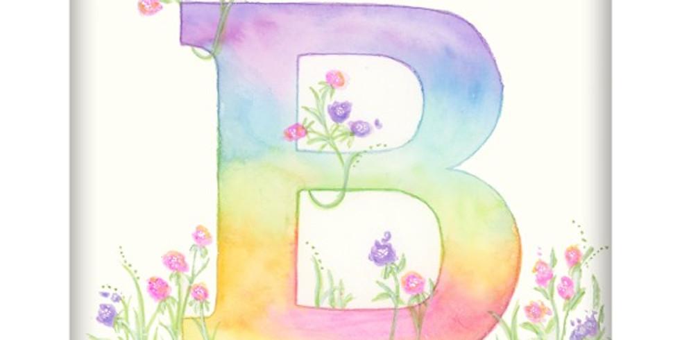 Watercolor Letters-beginner watercolor class