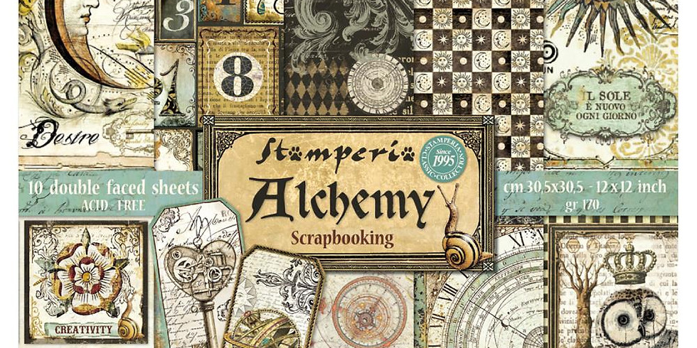 Stamperia Greeting Cards-Alchemy pack