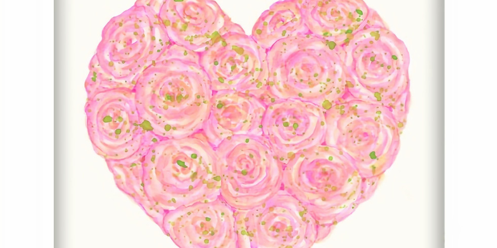 Rose Bouquet-beginner water color class